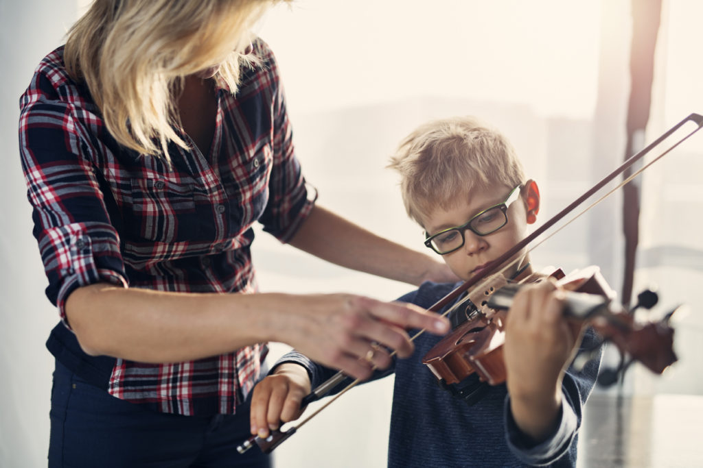 creative ways to donate to foster children include musical instruments like a violin